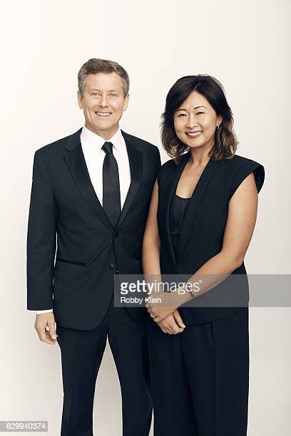'Shark Tank' s Clay Newbill and Yun Lingner pose for a portrait during the 2016 Critics Choice Awards on December 11 2016 in Santa Monica California
