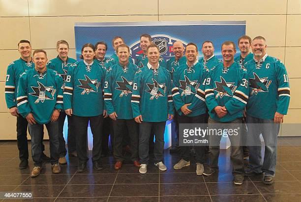Sharks alumni Scott Thornton, Tom Pederson, Murray Craven, Mike Ricci, Dave Maley, Kyle McLaren, Jamie Baker, Mike Rathje, Mark Smith, Rick Lessard,...