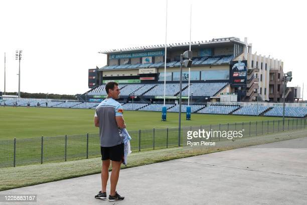 Sharks coach John Morris is seen during a Cronulla Sharks NRL training session at PointsBet Stadium on May 20, 2020 in Sydney, Australia.