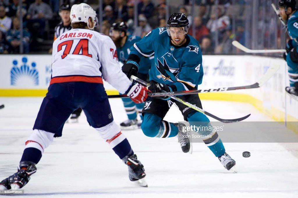 NHL: MAR 10 Capitals at Sharks : News Photo