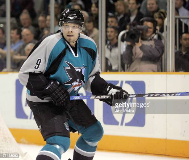 Sharks forward Milan Michalek in action during the San Jose Sharks 7-1 defeat of the Chicago Blackhawks March 13, 2007 at HP Pavilion in San Jose,...