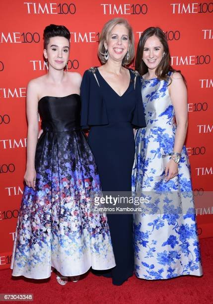 Sharla May Nancy Gibbs and Galen May attend attends the 2017 Time 100 Gala at Jazz at Lincoln Center on April 25 2017 in New York City
