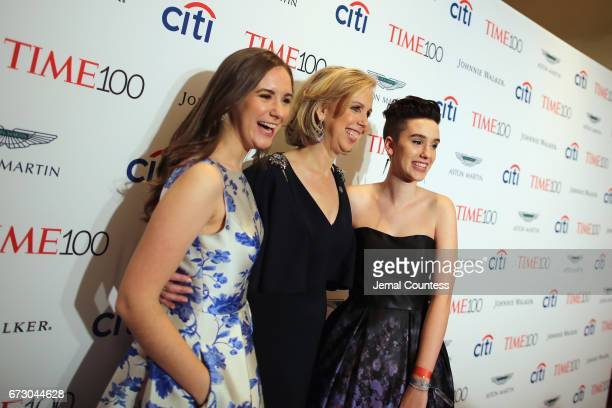 Sharla May, Nancy Gibbs, and Galen May attend attends the 2017 Time 100 Gala at Jazz at Lincoln Center on April 25, 2017 in New York City.