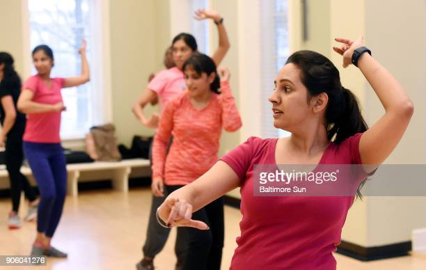 Sharleen Kaur in a Bend It Like Bollywood class at the Maple Lawn Community Center The fitnessoriented class uses Bollywood music and dance movements