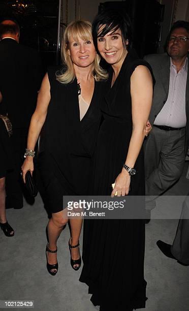 Sharleen Spiteri and Caroline Grainge attend the Lucian Grainge VIP Party on June 15 2010 in London England