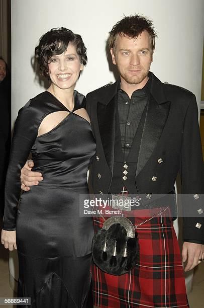 Sharleen Spiteri and Ewan McGregor attend the Burns' Night VIP Fundraising Party celebrating Scotland's Robert Burns' presumed birthday at Asia de...