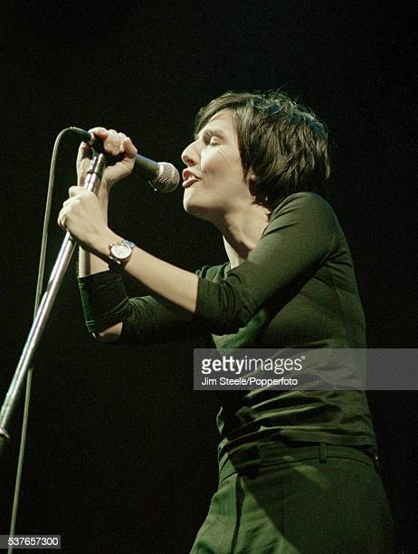 Sharleen Spiteri of Texas performing on stage at Wembley Arena in London on the 30th November 1997