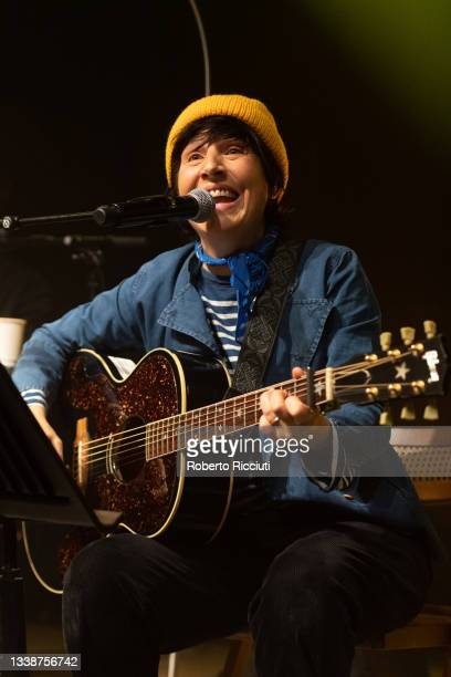 Sharleen Spiteri of Texas performs on stage at The Queen's Hall on September 06, 2021 in Edinburgh, Scotland.