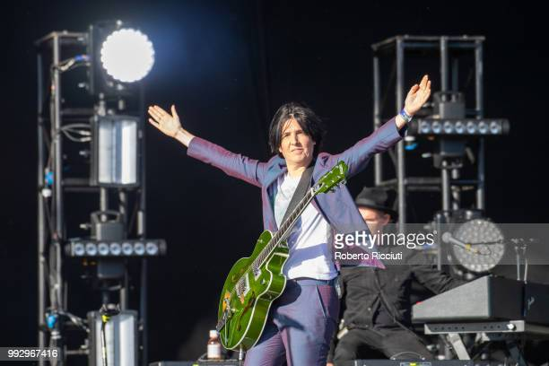 Sharleen Spiteri of Texas performs on stage during TRNSMT Festival Day 4 at Glasgow Green on July 6 2018 in Glasgow Scotland
