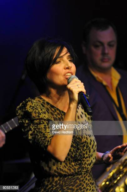 Sharleen Spiteri performs on stage with the Ronnie Scotts Big Band to celebrate 50 years of the legendary jazz club at Ronnie Scott's Jazz Club on...