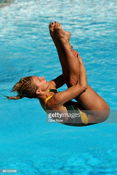 Sharleen Stratton of Australia competes in the Women's 1m Springboard Final at the Stadio del Nuoto on July 19 2009 in Rome Italy