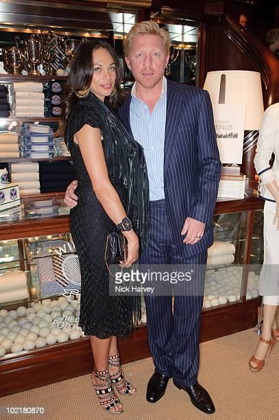 Sharlely Becker and Boris Becker attend the Ralph Lauren Wimbledon party on June 17, 2010 in London, England.
