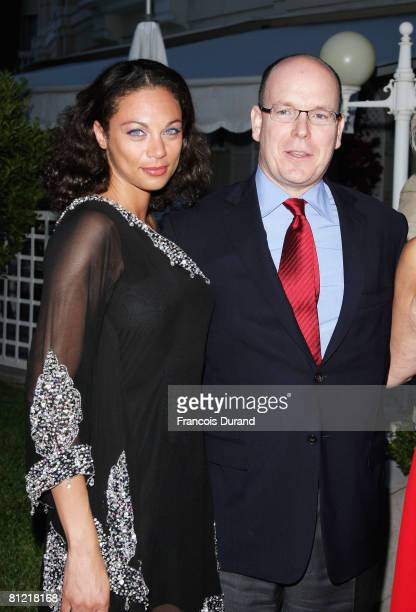 Sharlely Kerssenberg and Prince Albert II of Monaco attend the 'Better World Awards' cocktail reception held at the Hotel de Paris on May 23 2008 in...