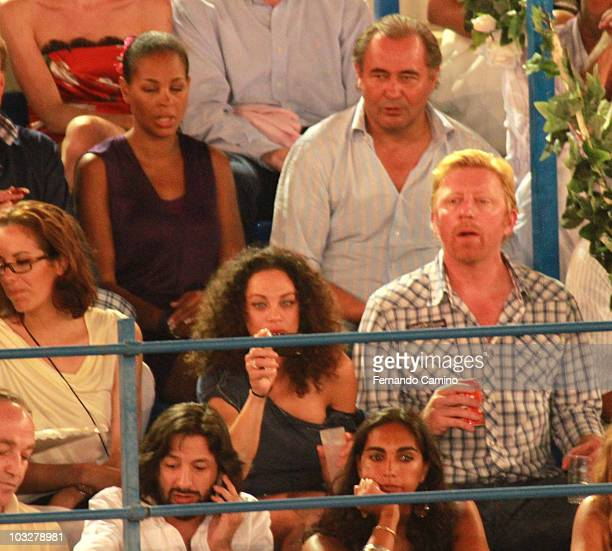 Sharlely 'Lilly' Kerssenberg and Boris Becker attends 'Corrida de los Candiles' bullfights in Marbella on August 6 2010 in Marbella Spain ng at night...