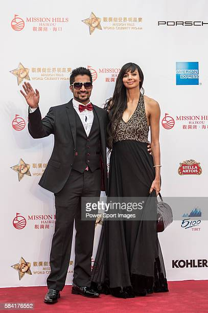 Sharmila Nicollet of India and boyfriend Ricky Muthapa Rai arrive at the Red Carpet welcome during the opening ceremony of the Mission Hills...