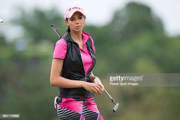 Sharmila Nicollet of India in action during the Mission Hills Celebrity ProAm on 26 October 2014 in Haikou China