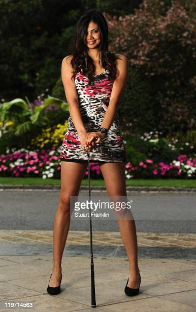Sharmila Nicollet of India poses for a picture at the gala dinner after the third round of the Evian Masters at the Evian Masters golf club on July...