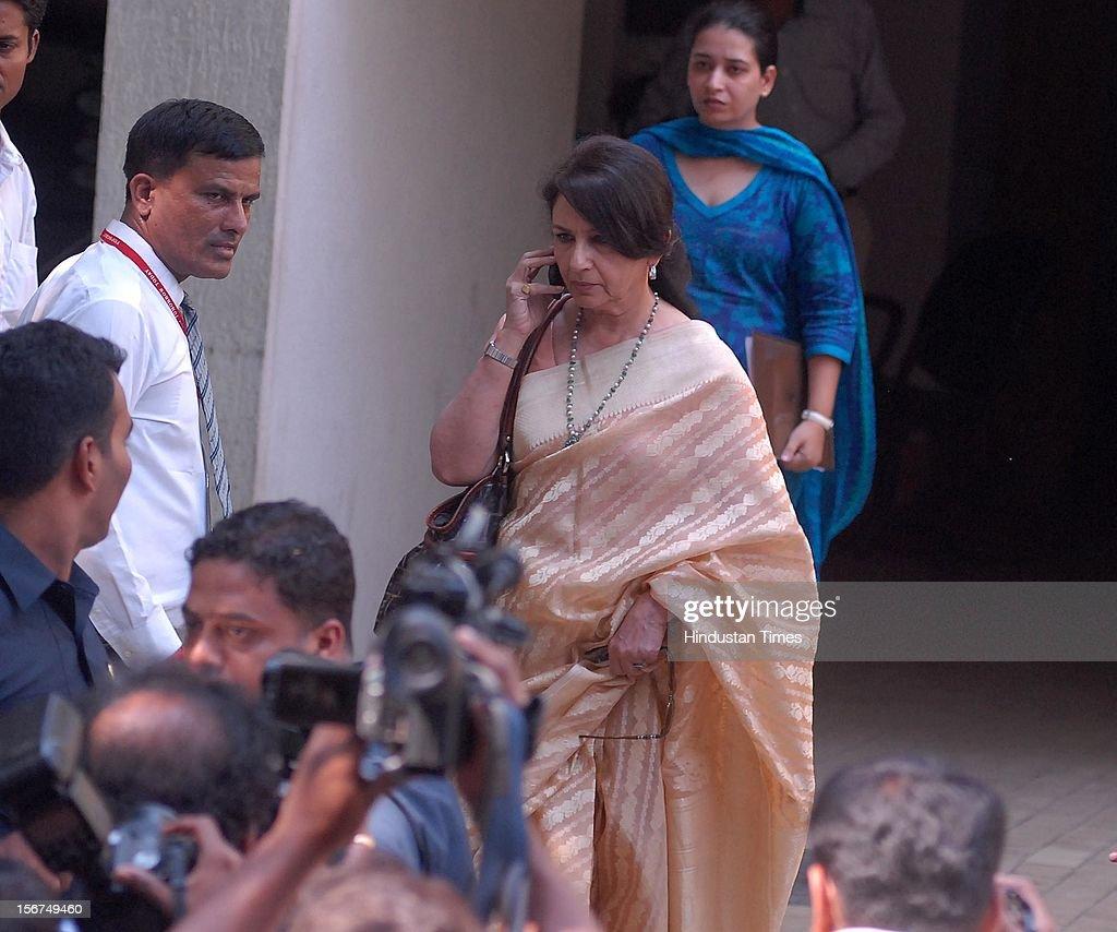 MUMBAI, INDIA - OCTOBER 16: Sharmila Tagore after the Saif