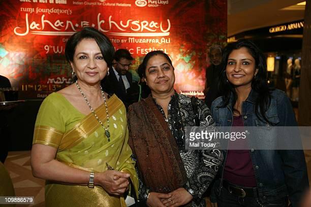 Sharmila Tagore at a curtain raiser for the upcoming JahaneKhusrau Festival at DLF Emporio