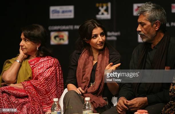 Sharmila Tagore Soha Ali Khan and director Prakash Jha at the first Pravasi Film Festival at the India Habitat Centre on Sunday January 3 2010