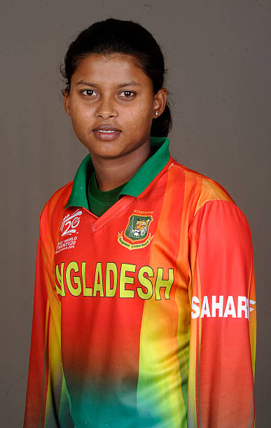 Sharmin Akter Supta of Bangladesh poses for a portrait during the women's headshot session before the start of the ICC Women's World T20 at the...
