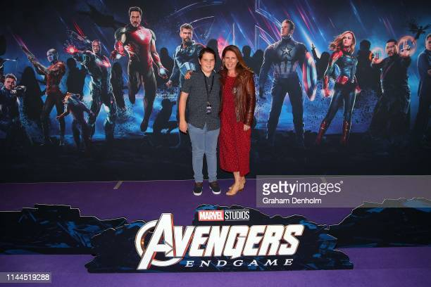 Sharn Coombes poses ahead of the special screening of Marvel Studios' Avengers: Endgame at IMAX Melbourne Museum on April 23, 2019 in Melbourne,...