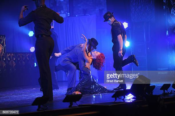 Sharna Burgess and Artem Chigvintsev perfom during Dancing With The Stars Live 'Dance All Night Tour' New York New York at Beacon Theatre on January...