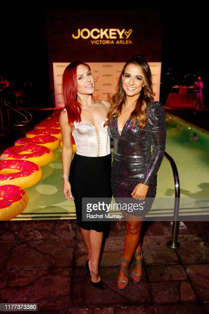 Sharna Burgess and Victoria Arlen attend Jockey x Victoria Arlen Collection Launch Party at SIXTY Beverly Hills on September 26, 2019 in Beverly...