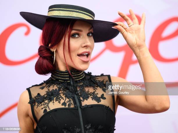 Sharna Burgess attends Derby Day at Flemington Racecourse on November 02 2019 in Melbourne Australia