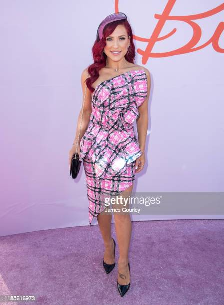 Sharna Burgess attends Melbourne Cup Day at Flemington Racecourse on November 05 2019 in Melbourne Australia