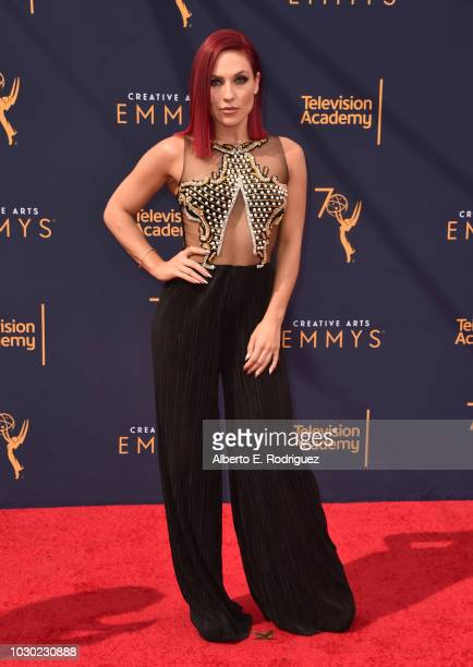Sharna Burgess attends the 2018 Creative Arts Emmys Day 2 at Microsoft Theater on September 9 2018 in Los Angeles California