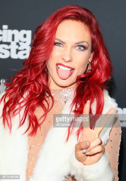 Sharna Burgess attends the 'Dancing With The Stars' Season 25 Finale on November 21 2017 in Los Angeles California