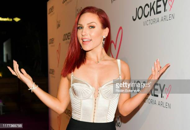 Sharna Burgess attends the Jockey x Victoria Arlen Collection Launch Party at SIXTY Beverly Hills on September 26 2019 in Beverly Hills California