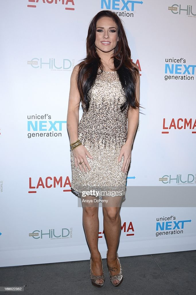 Sharna Burgess attends the UNICEF NextGen Los Angeles launch at LACMA on May 9, 2013 in Los Angeles, California.
