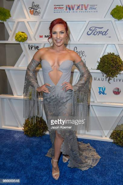 Sharna Burgess from Dancing from the Stars attends Give From the Heart #InspIRIE at the Fountainbleau Miami Beach during Irie Weekend 2018 on June 28...