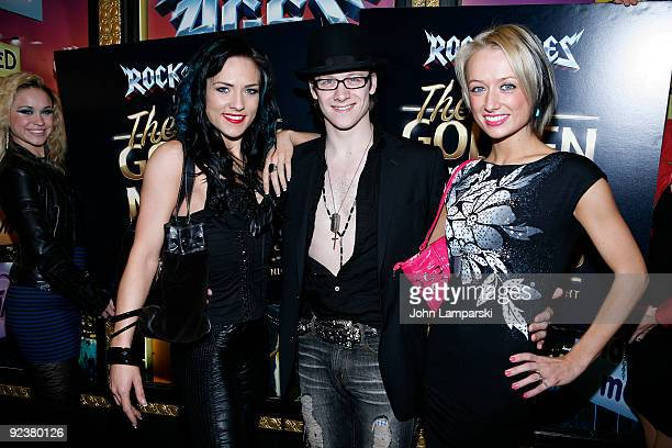 Sharna Burgess Kevin Clifton and Claire Clifton attend the 2009 Golden Mullet Awards at Brooks Atkinson Theatre on October 26 2009 in New York City