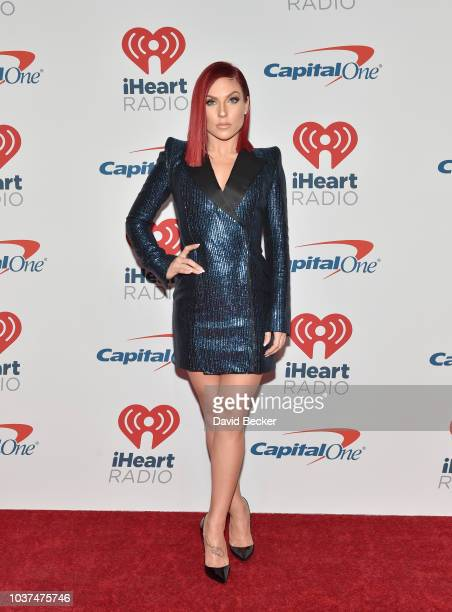 Sharna Burgess poses in the press room during the iHeartRadio Music Festival at TMobile Arena on September 21 2018 in Las Vegas Nevada