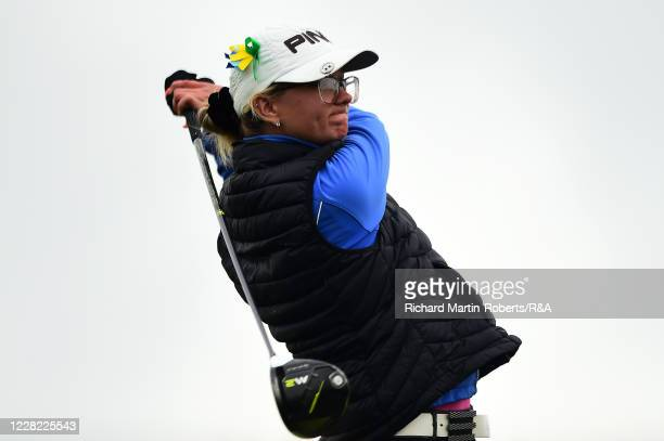 Sharna Dutrieux of England tees off during Round 2 of Matchplay on Day Three of The Women's Amateur Championship at The West Lancashire Golf Club on...