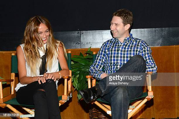 Sharni Vinson and Justin King attend the Australians In Film Screening of Patrick on September 25 2013 in Los Angeles California