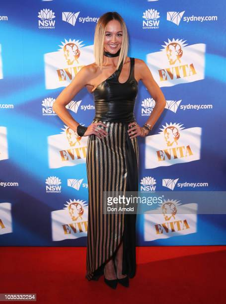 Sharni Vinson attends opening night of Evita at Sydney Opera House on September 18 2018 in Sydney Australia