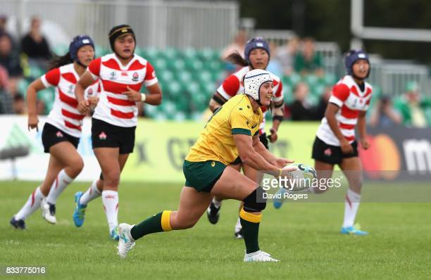 Sharni Williams of Australia in action during the Women's Rugby World Cup Pool C match between Australia and Japan at Billings Park UCD on August 17...