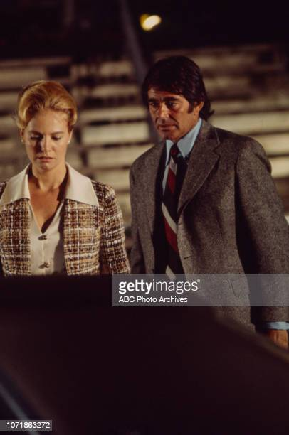 Sharon Acker Stuart Whitman appearing in the Walt Disney Television via Getty Images series 'The FBI' episode 'The Watch Dog'