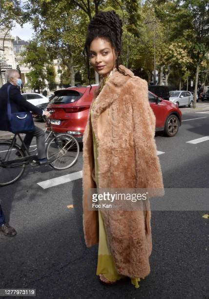 Sharon Alexie aka flammedepigalle attends the Chloe Womenswear Spring/Summer 2021 show as part of Paris Fashion Week on October 01, 2020 in Paris,...