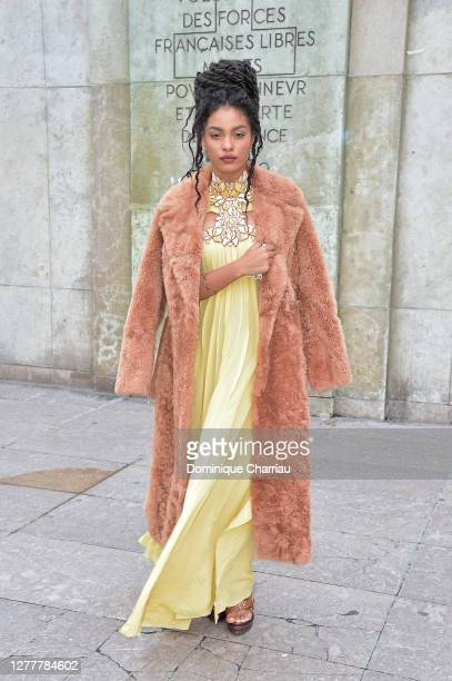 Sharon Alexie attends the Chloe Womenswear Spring/Summer 2021 show as part of Paris Fashion Week on October 01, 2020 in Paris, France.