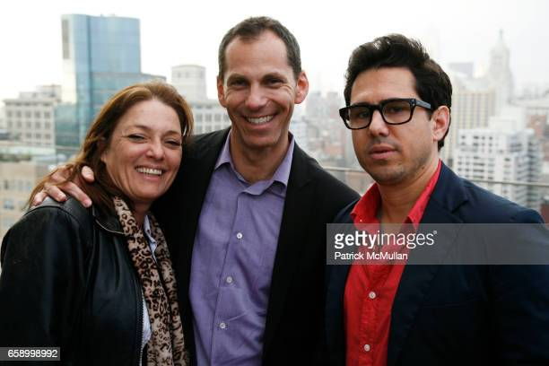 Sharon Angela Howard Axel and Mike Gasparro attend THE COOPER SQUARE HOTEL MINIBAR EXCLUSIVES UNVEILING at Cooper Square Hotel Penthouse on April 21...