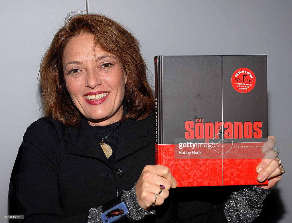 Sharon Angela joins cast members from 'The Sopranos' sign copies of 'The Sopranos: The Complete Book' at The HBO Shop on November 2, 2007 in New York City .
