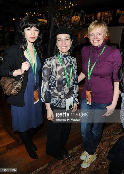 Sharon Badal Domenica CameronScorsese and Clair Breton attend the Women's Filmmaker brunch hosted by Ebel during the 2010 Tribeca Film Festival at...