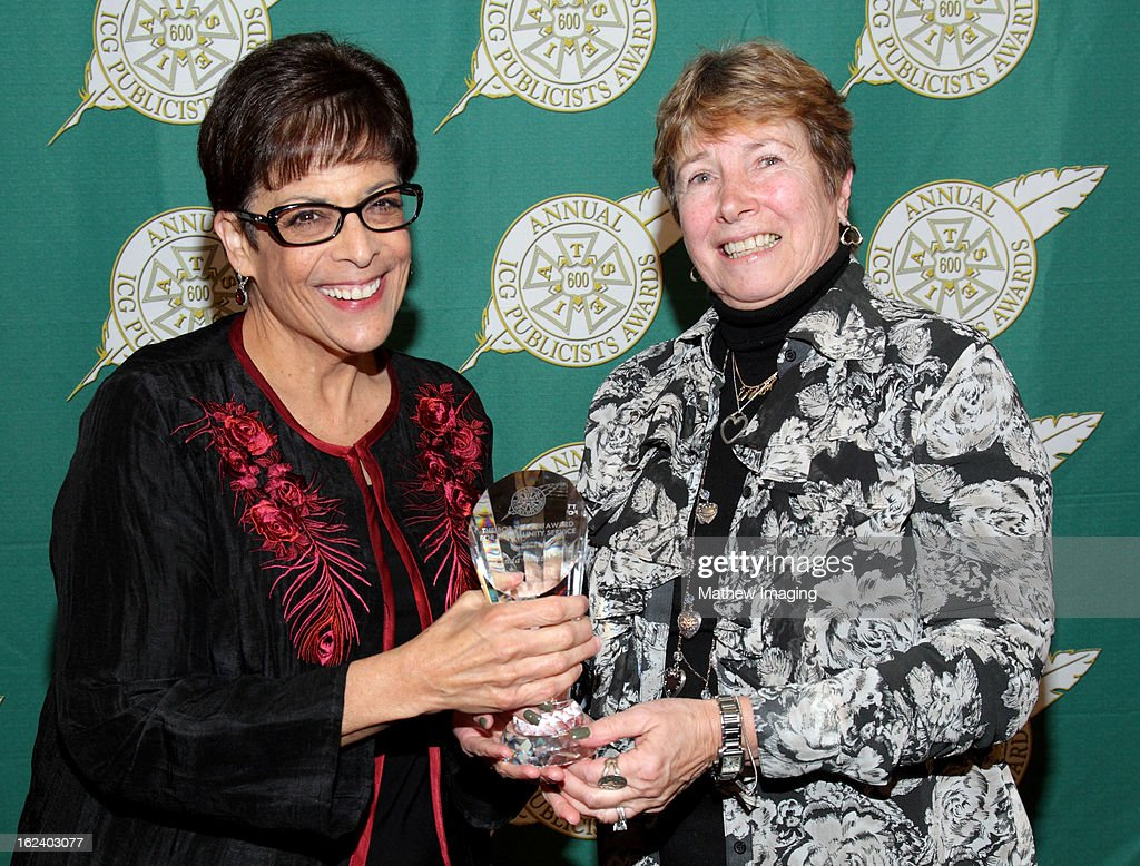 Sharon Black and Linda Weitzler, recipient of the Bob Yeager Award attend the 50th Annual ICG Publicists Awards which took place at The Beverly Hilton Hotel on February 22, 2013 in Beverly Hills, California.