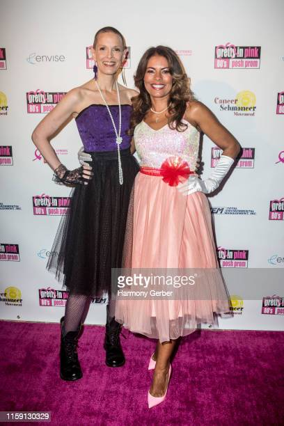 Sharon Blynn and Lisa Vidal attend Envise's 4th Annual Gala Fundraiser Pretty In Pink 80's Prom Benefiting American Cancer Society And Cancer...