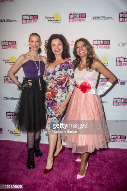 Sharon Blynn Fran Drescher and Lisa Vidal attend Envise's 4th Annual Gala Fundraiser Pretty In Pink 80's Prom Benefiting American Cancer Society And...